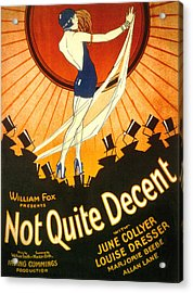 Not Quite Decent, June Collyer, 1929 Acrylic Print by Everett
