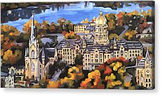 Notre Dame Acrylic Print by Anne Lewis