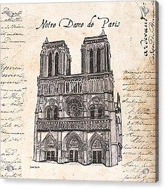 Notre Dame De Paris Acrylic Print by Debbie DeWitt