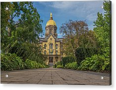 Notre Dame University Q Acrylic Print by David Haskett