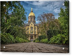 Notre Dame University Q1 Acrylic Print by David Haskett
