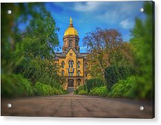 Notre Dame University Q2 Acrylic Print by David Haskett