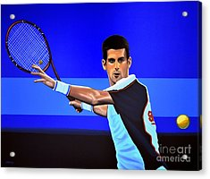 Novak Djokovic Acrylic Print by Paul Meijering