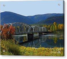 Noxon Bridge Acrylic Print by Tonya P Smith