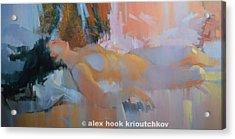 Nu 28 Acrylic Print by Alex Hook Krioutchkov