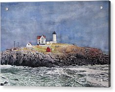 Nubble Lighthouse Acrylic Print by Sharon Farber