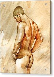 Nude 41 Acrylic Print by Chris  Lopez