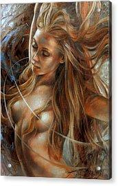 Nude Dinamik2 Acrylic Print by Arthur Braginsky