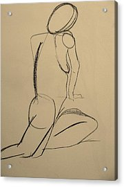 Nude Drawing 2 Acrylic Print by Kathleen Fitzpatrick