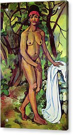 Nude Acrylic Print by Marie Clementine Valdon