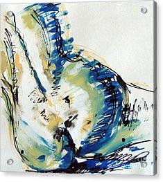 Nude Study Acrylic Print by Iglika Milcheva-Godfrey