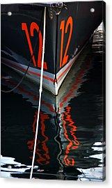 Number12 Acrylic Print by Karo Evans