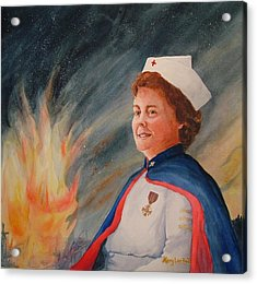 Nurse Arvin Acrylic Print by Mary Lou Hall
