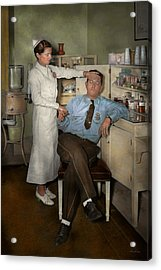 Nurse - Sick Day - 1937 Acrylic Print by Mike Savad