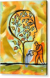 Nurturing And Caring Acrylic Print by Leon Zernitsky