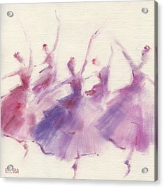 Nutcracker Ballet Waltz Of The Flowers Acrylic Print by Beverly Brown Prints