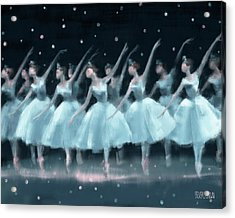 Nutcracker Ballet Waltz Of The Snowflakes Acrylic Print by Beverly Brown