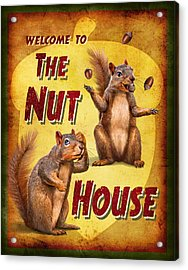 Nuthouse Acrylic Print by JQ Licensing