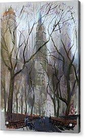 Nyc Central Park 1995 Acrylic Print by Ylli Haruni
