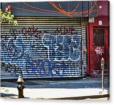 Nyc Graffiti Acrylic Print by Chuck Kuhn