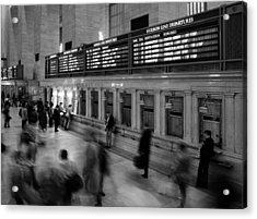 Nyc Grand Central Station Acrylic Print by Nina Papiorek