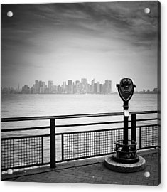 Nyc Manhattan View Acrylic Print by Nina Papiorek