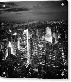 Nyc Times Square Acrylic Print by Nina Papiorek