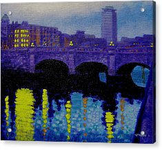 O Connell Bridge - Dublin Acrylic Print by John  Nolan
