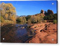 Oak Creek Autumn Acrylic Print by Gary Kaylor