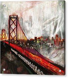 Oakland Bay Bridge 223 2 Acrylic Print by Mawra Tahreem