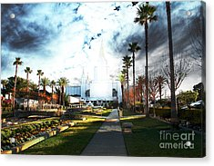 Oakland California Temple . The Church Of Jesus Christ Of Latter-day Saints Acrylic Print by Wingsdomain Art and Photography