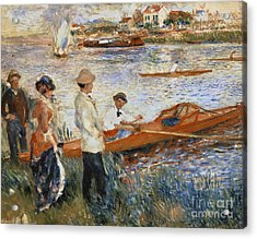 Oarsmen At Chatou Acrylic Print by Pierre Auguste Renoir