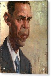 Obama Acrylic Print by Court Jones