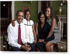 Obama Family Official Portrait By Annie Acrylic Print by Everett