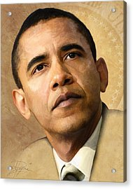 Obama Acrylic Print by Joel Payne