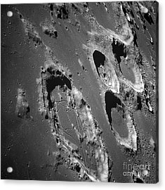 Oblique View Of The Lunar Surface Acrylic Print by Stocktrek Images