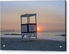 Ocbp - Sunrise In Ocean City Acrylic Print by Bill Cannon