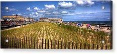 Ocean City Panorama Acrylic Print by John Loreaux