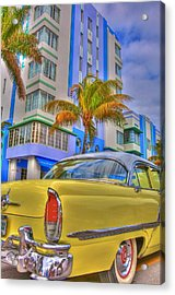 Ocean Drive Acrylic Print by William Wetmore