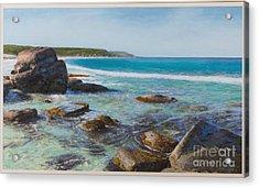Oceans Edge Acrylic Print by Gary Leathendale