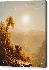 October In The Catskills Acrylic Print by Sanford Robinson Gifford