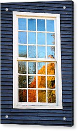 October Reflections 4 Acrylic Print by Edward Sobuta