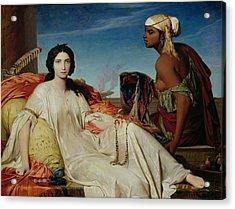 Odalisque Acrylic Print by Francois Leon Benouville