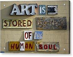 Ode To Art Acrylic Print by Jill Reger