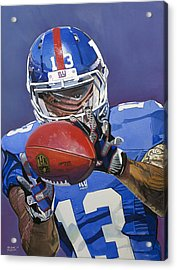 Odell Beckham Jr. Catch New York Giants Acrylic Print by Michael Pattison