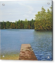 Off The Dock Acrylic Print by Kenneth M  Kirsch