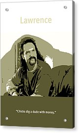 Office Space Lawrence Diedrich Bader Movie Quote Poster Series 006 Acrylic Print by Design Turnpike