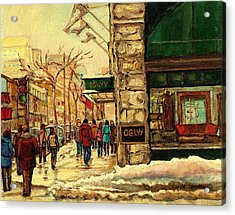 Ogilvys Department Store Downtown Montreal Acrylic Print by Carole Spandau