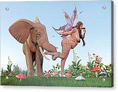 Oh Alice Acrylic Print by Betsy Knapp