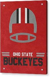 Ohio State Buckeyes Vintage Football Art Acrylic Print by Joe Hamilton